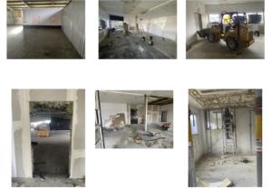 Entkernen der alten Büroräume