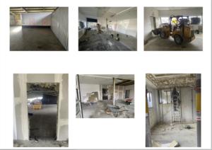 Entkernung der alten Büroräume