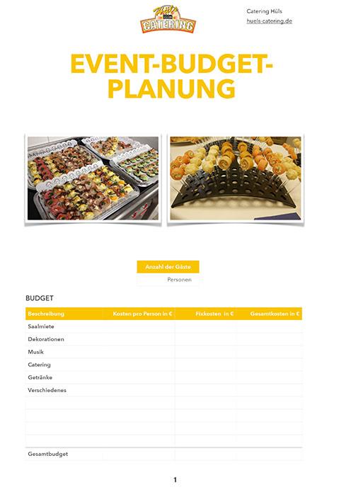Event-Budget-Planung