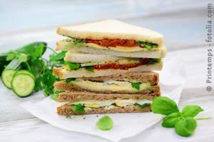 Lunchpaket mit Sandwiches
