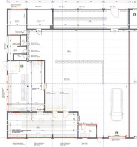Plan der Catering Produktion & Halle