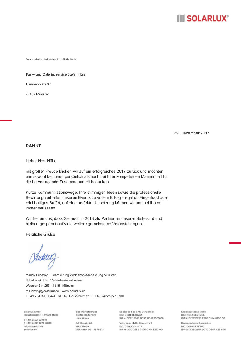 Referenzen - Partyservice Münster | Partyservice und Cateringservice ...